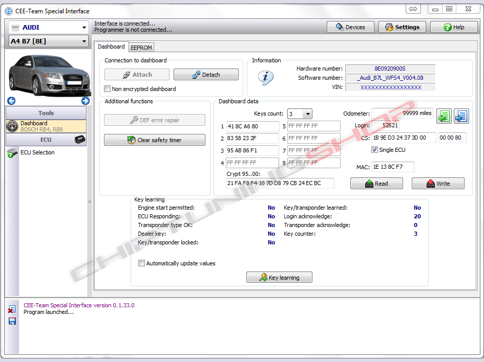 CEE-Team Audi Bosch RB4 RB8 Crypto Software