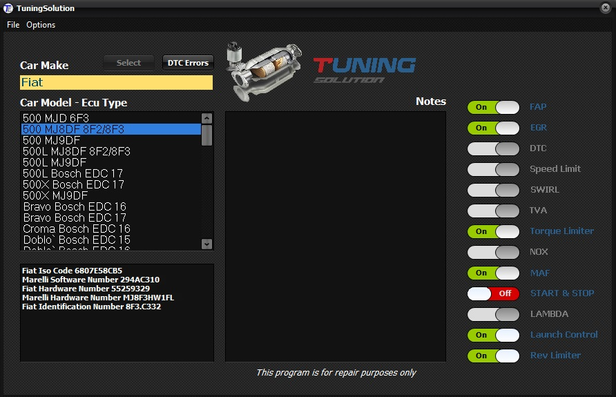 Tuning Solution Multi Function Software